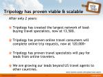 tripology has proven viable scalable