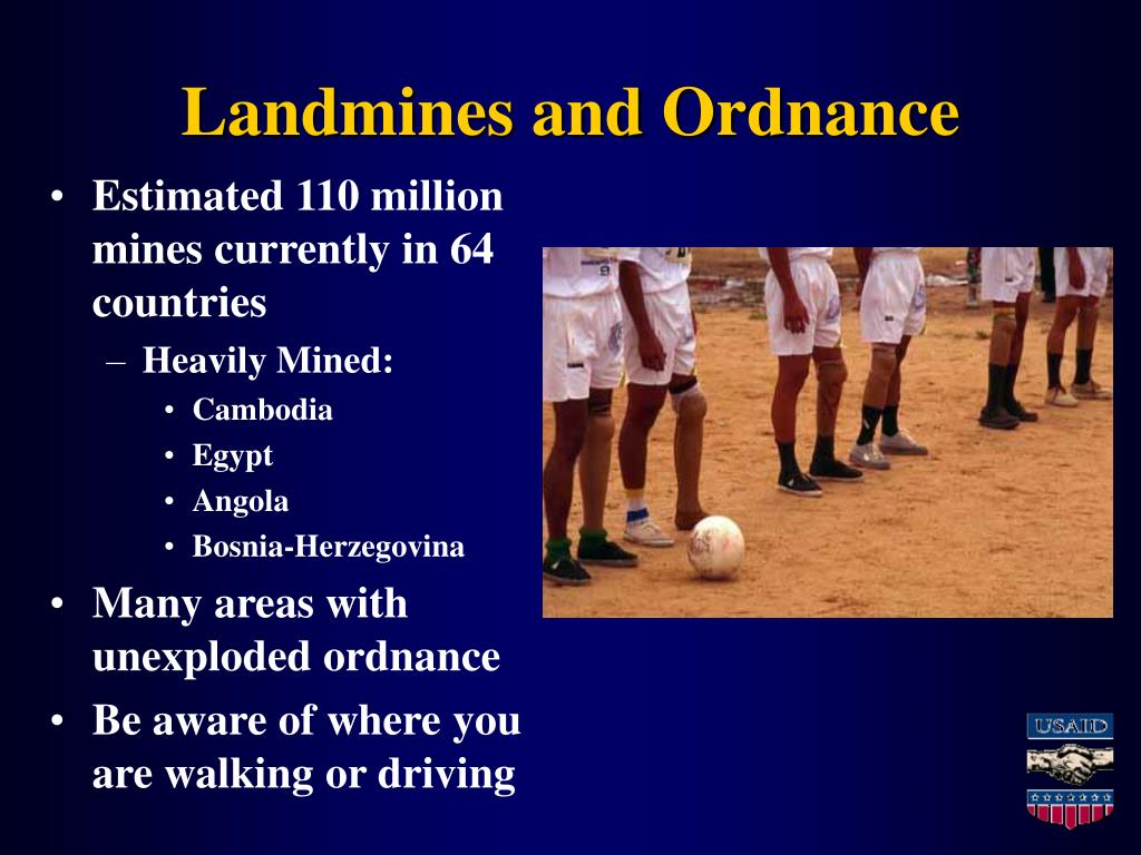 Landmines and Ordnance