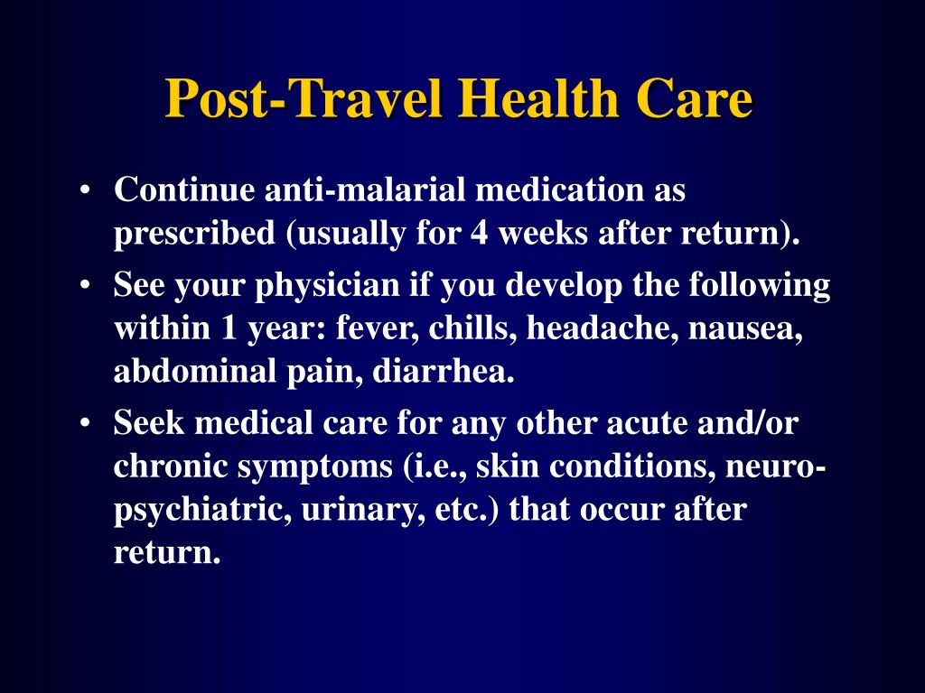 Post-Travel Health Care