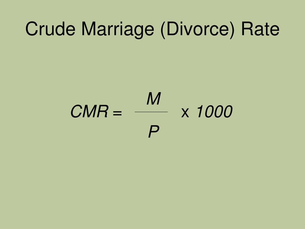 Crude Marriage (Divorce) Rate