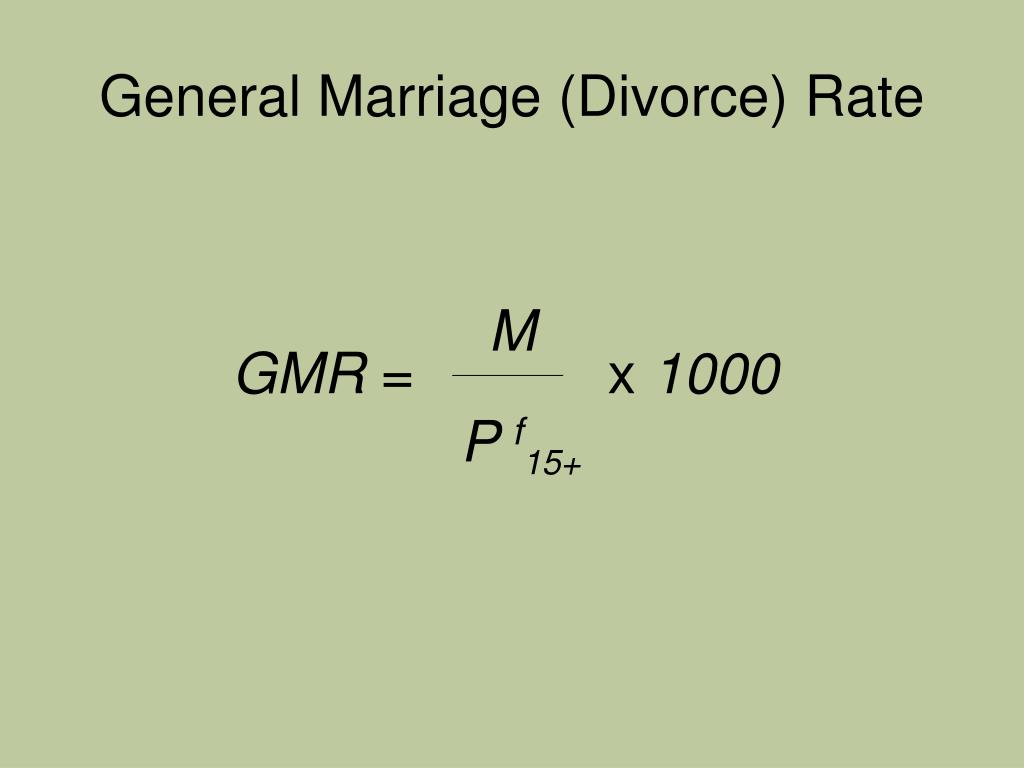 General Marriage (Divorce) Rate