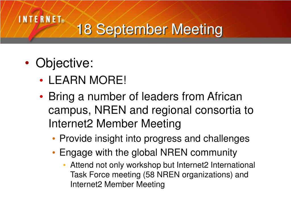 18 September Meeting