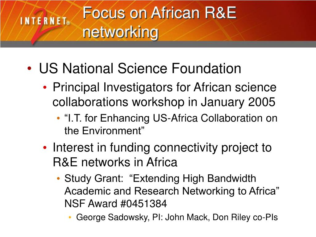 Focus on African R&E networking