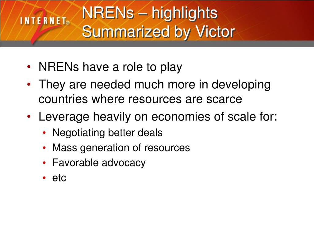 NRENs – highlights