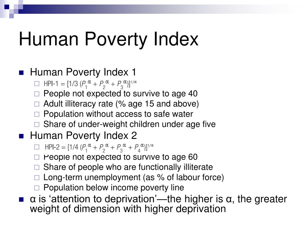 Human Poverty Index