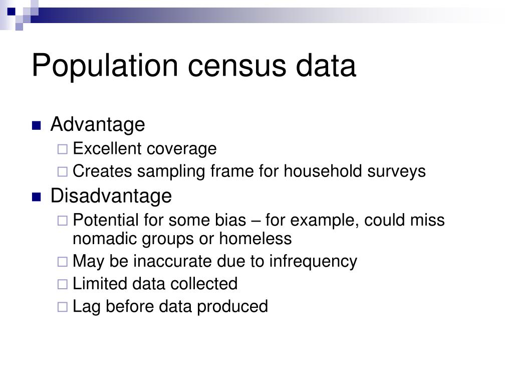 Population census data