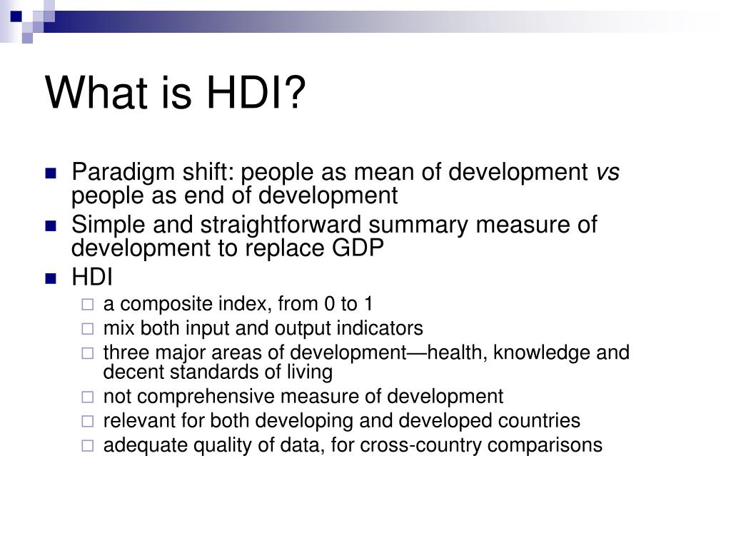 What is HDI?