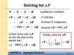 solving for y