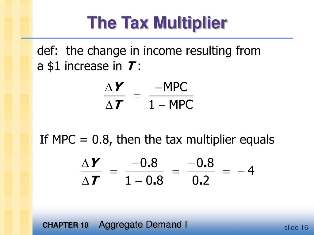 The Tax Multiplier