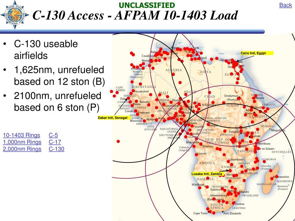 C-130 Access - AFPAM 10-1403 Load