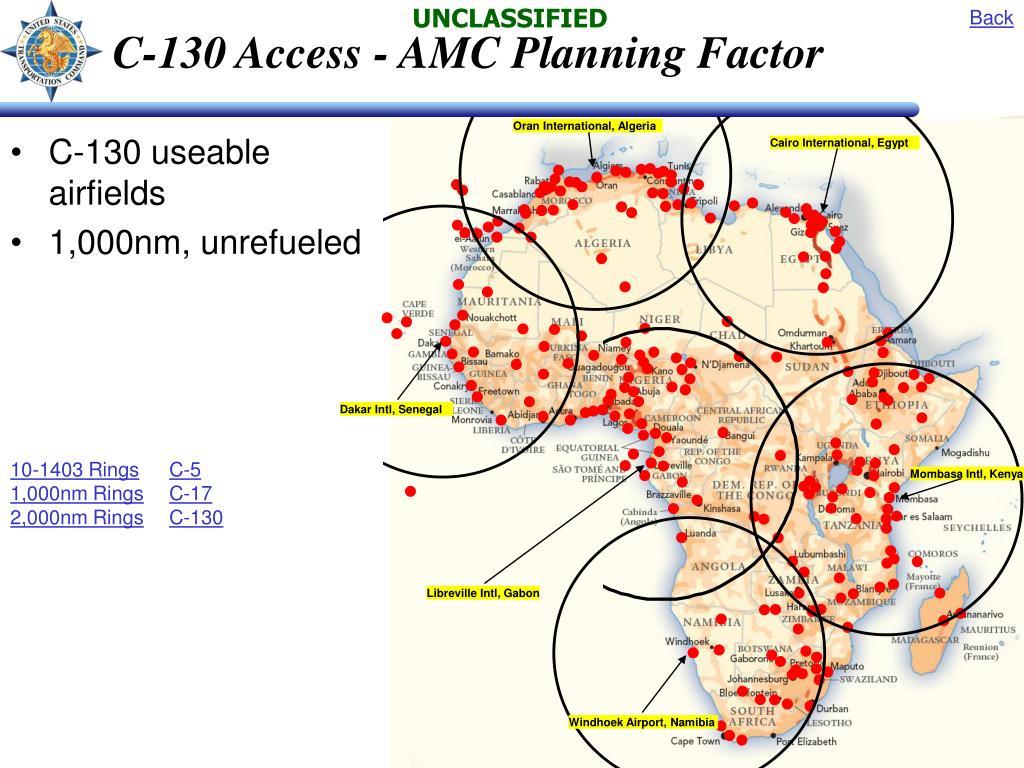 C-130 Access - AMC Planning Factor