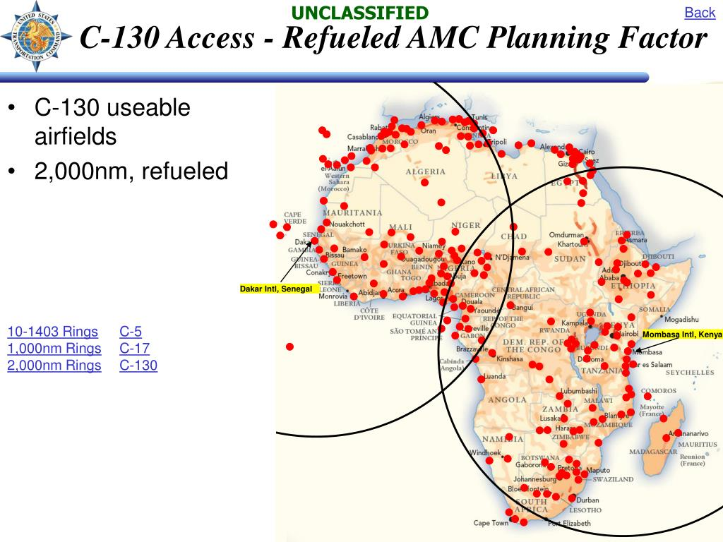 C-130 Access - Refueled AMC Planning Factor