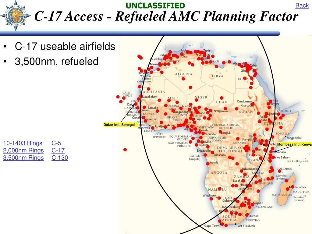 C-17 Access - Refueled AMC Planning Factor