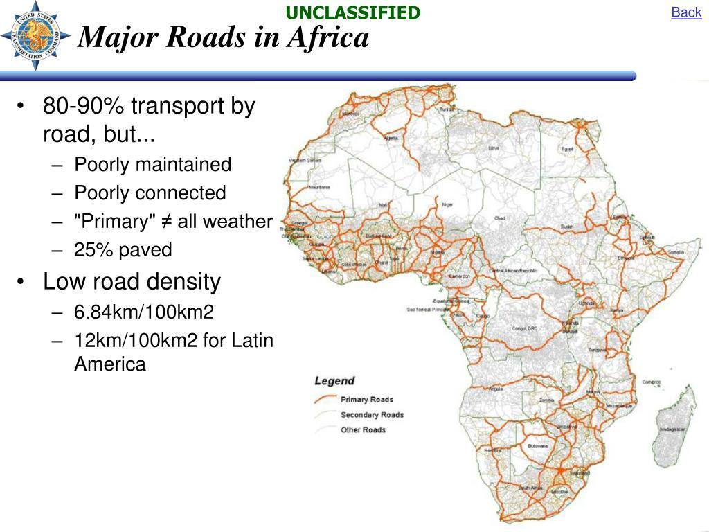 Major Roads in Africa