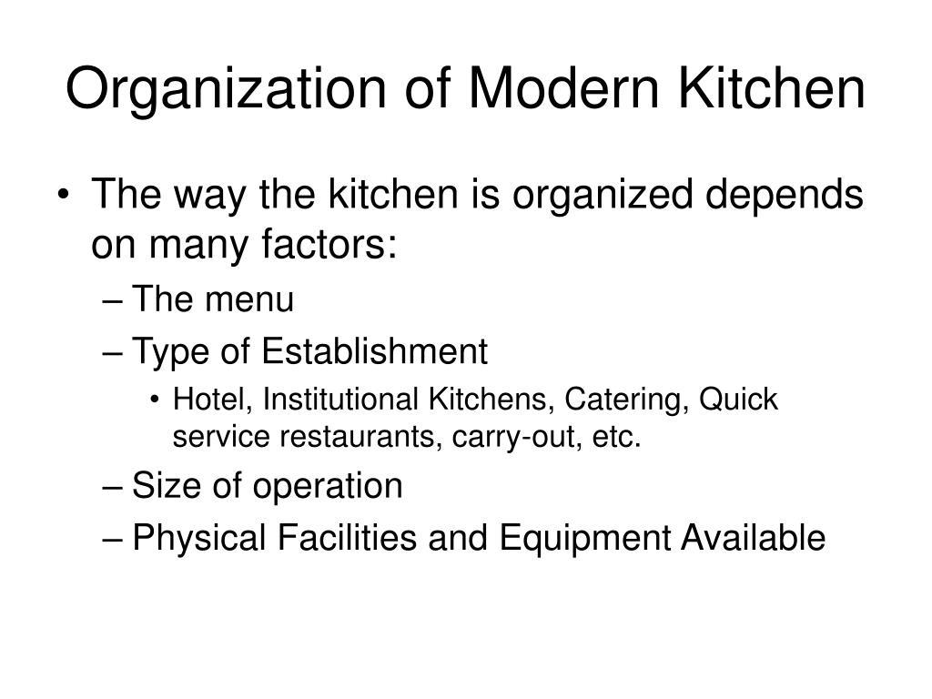 Modern Kitchen Brigade System Swing Kitchen