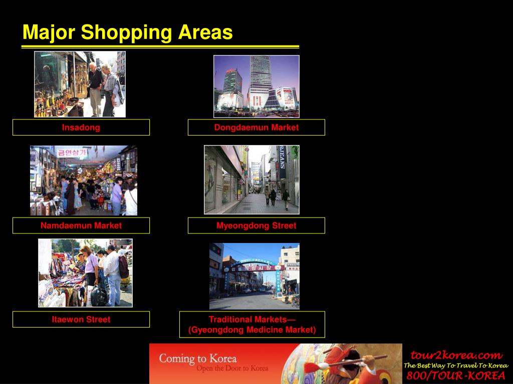 Major Shopping Areas