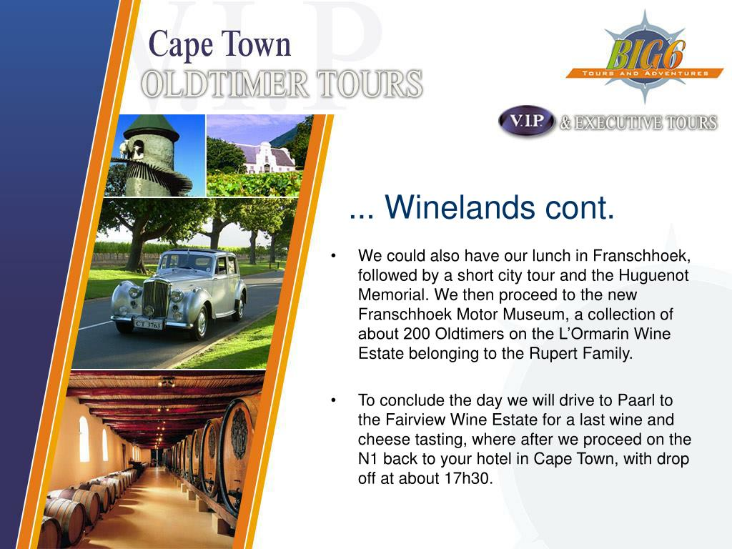 ... Winelands cont.