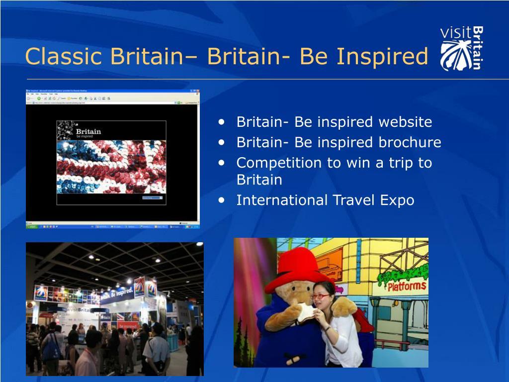 Britain- Be inspired website