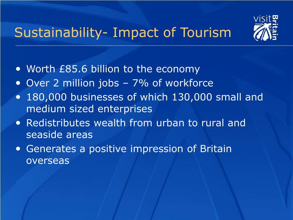 Sustainability- Impact of Tourism