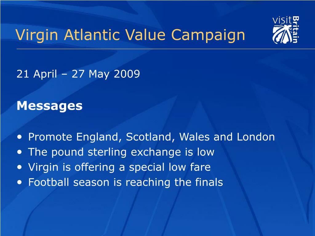 Virgin Atlantic Value Campaign