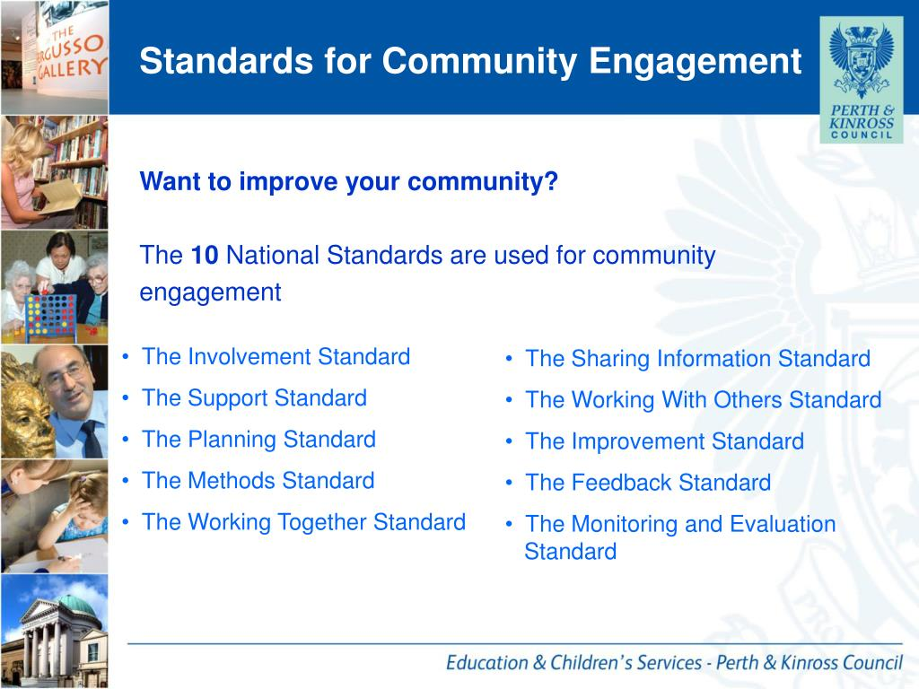 Standards for Community Engagement