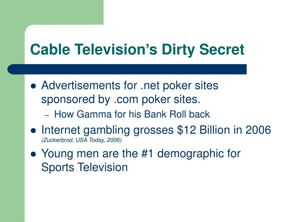 Cable Television's Dirty Secret