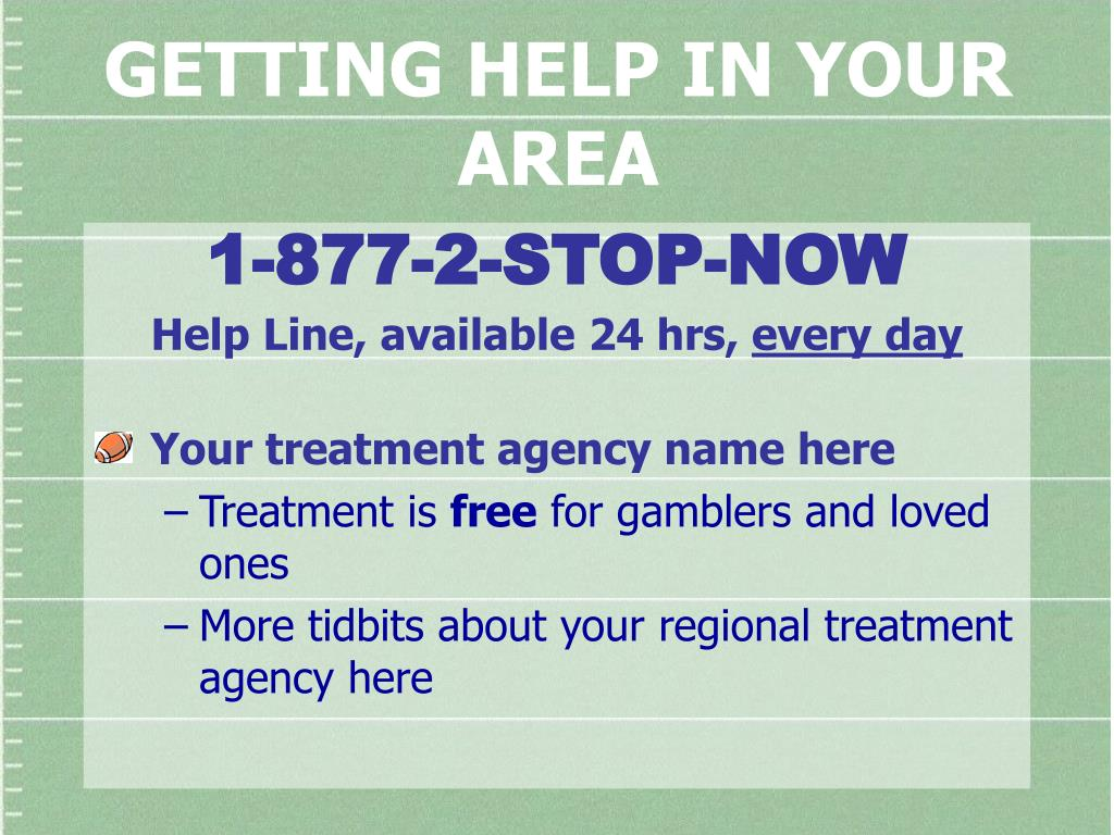 GETTING HELP IN YOUR AREA