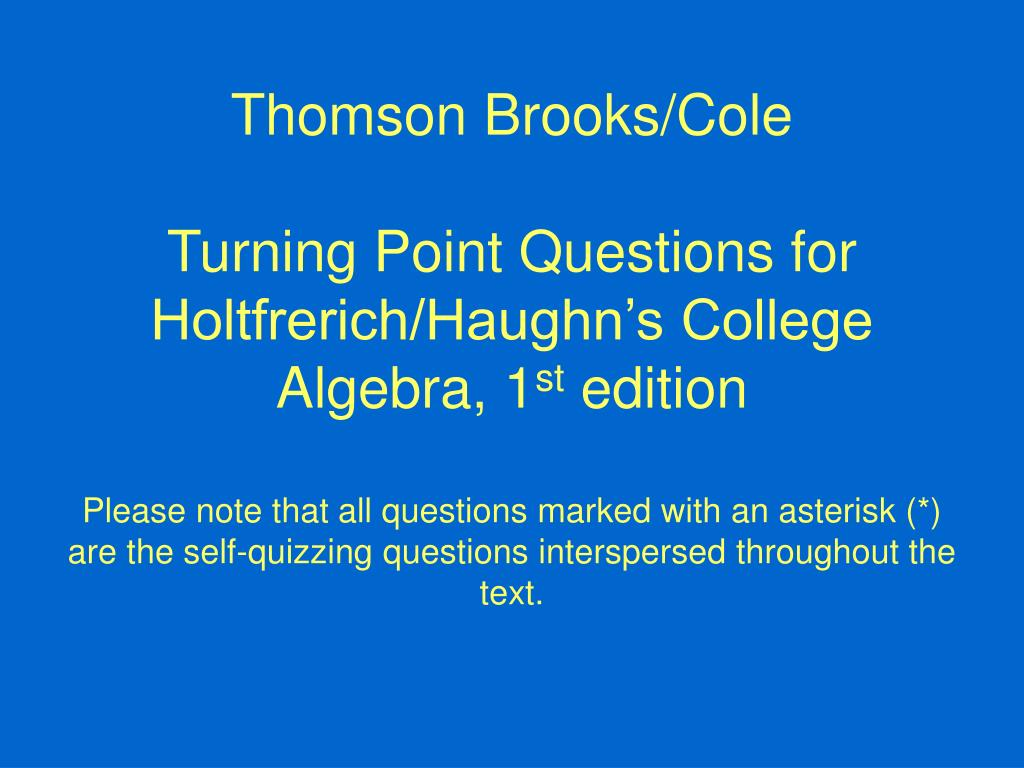 Thomson Brooks/Cole