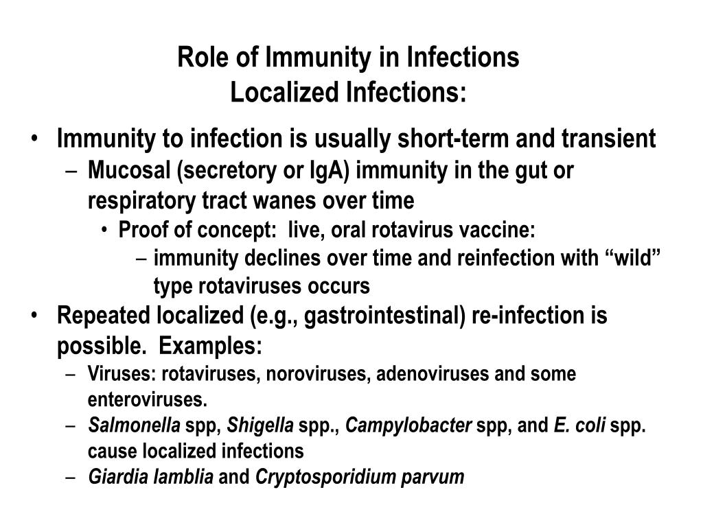 Role of Immunity in Infections