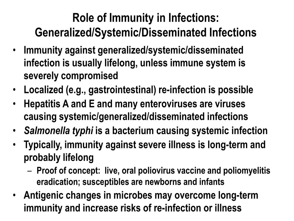 Role of Immunity in Infections: