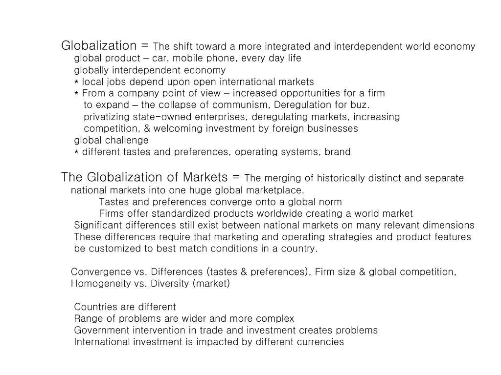 Globalization =