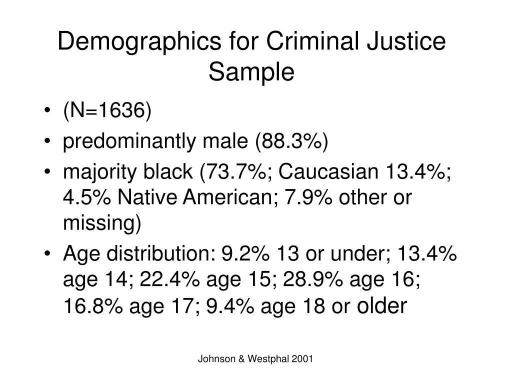 Demographics for Criminal Justice Sample