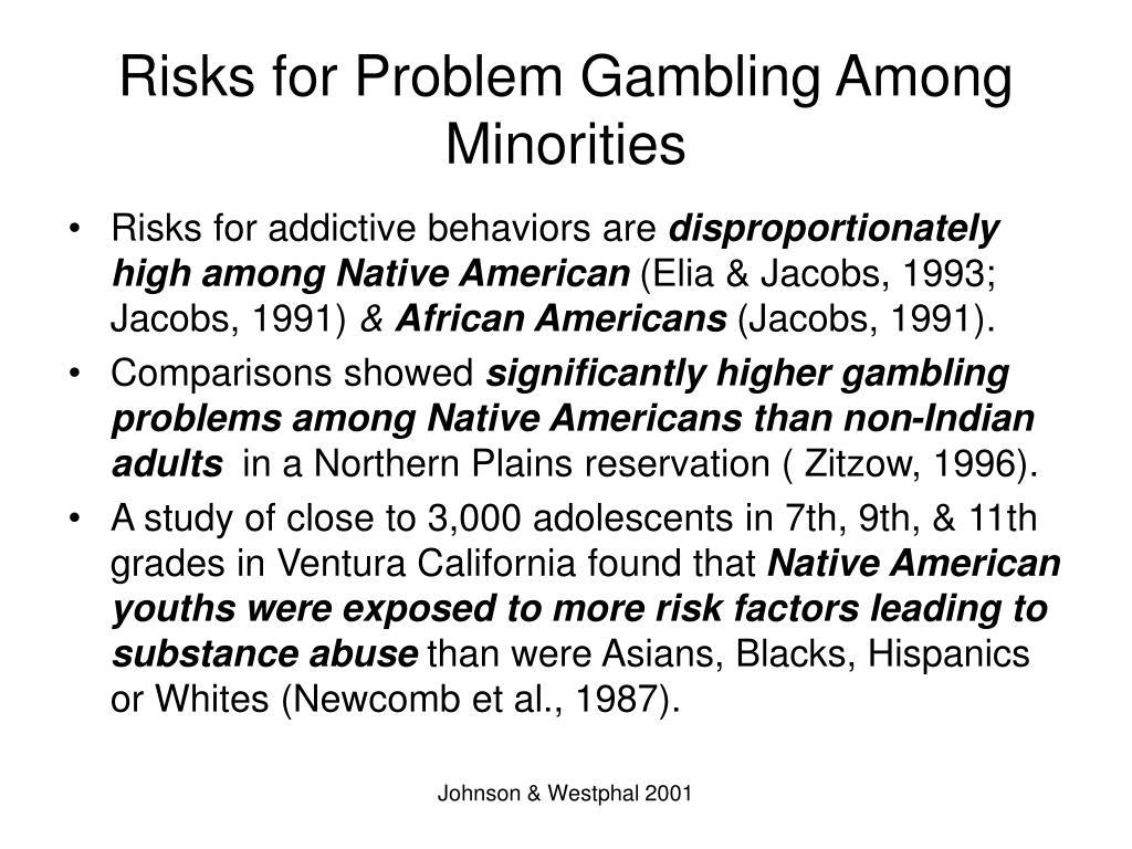 Risks for Problem Gambling Among Minorities