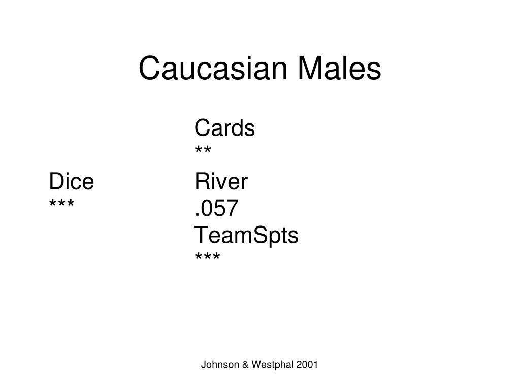 Caucasian Males