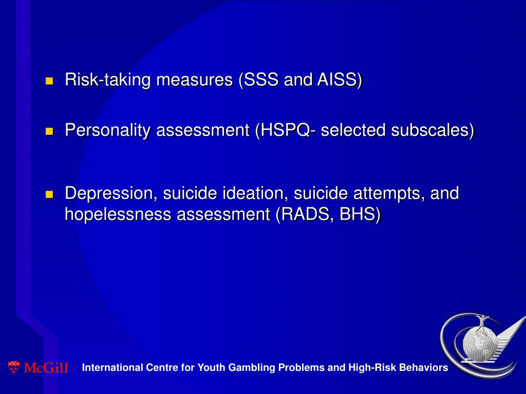 Risk-taking measures (SSS and AISS)