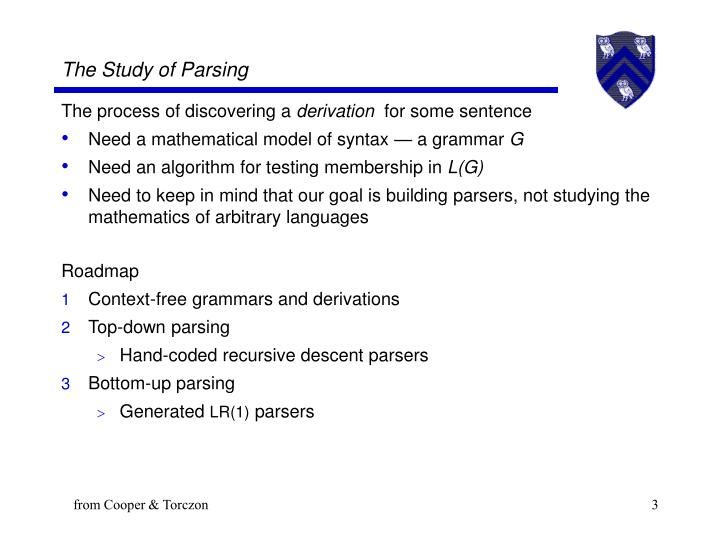 The study of parsing