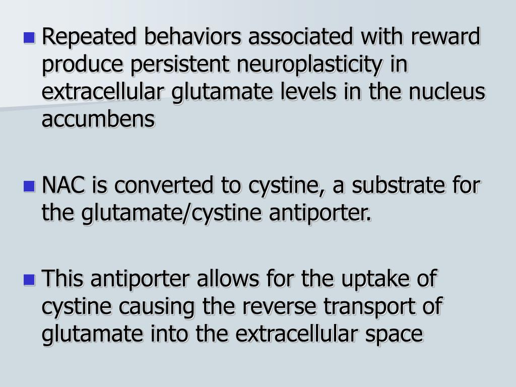 Repeated behaviors associated with reward produce persistent neuroplasticity in extracellular glutamate levels in the nucleus accumbens