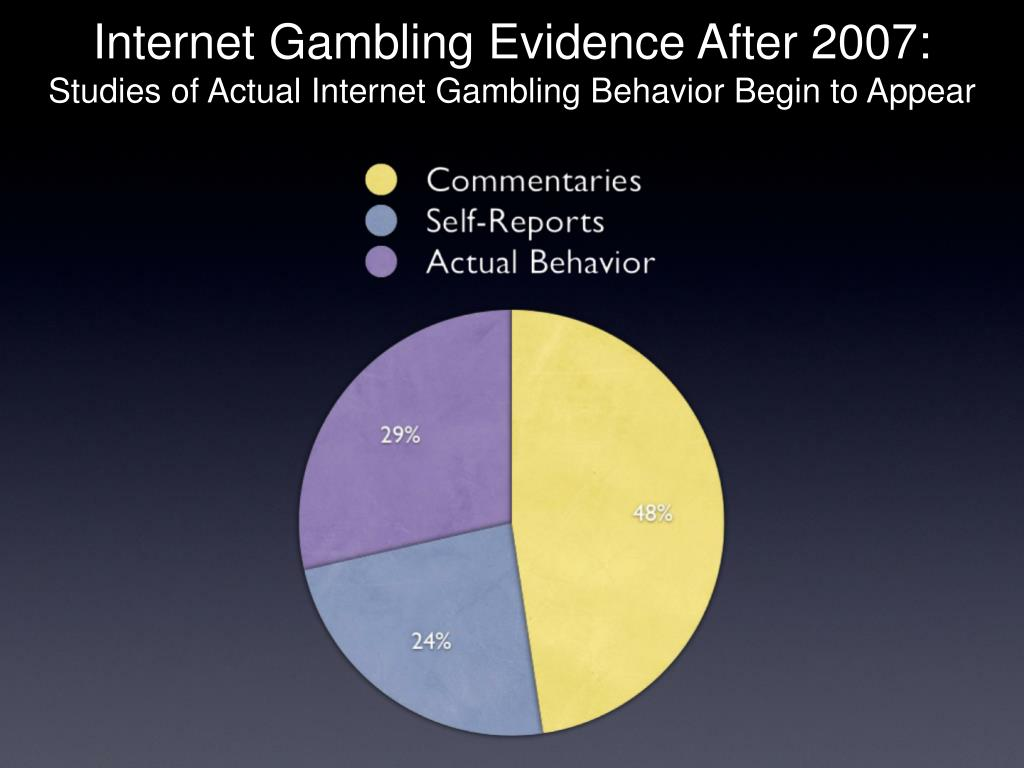 Internet Gambling Evidence After 2007: