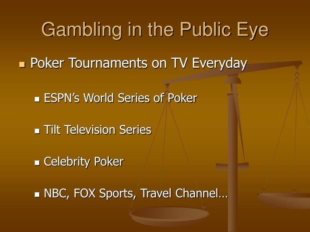 Gambling in the Public Eye