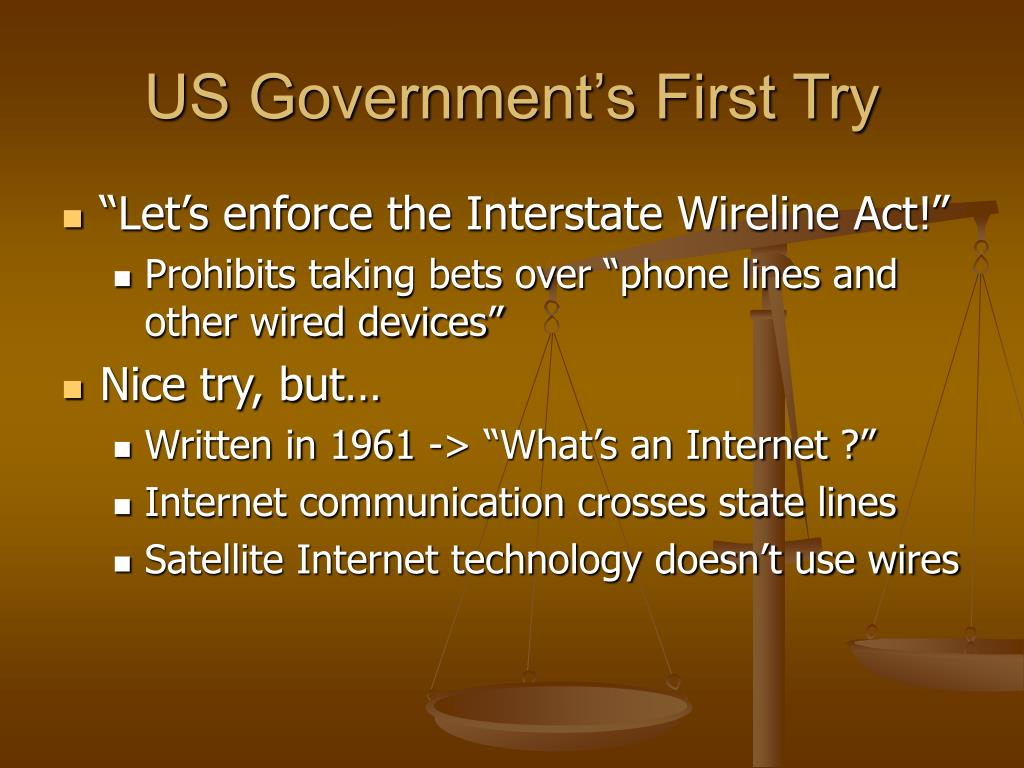 US Government's First Try