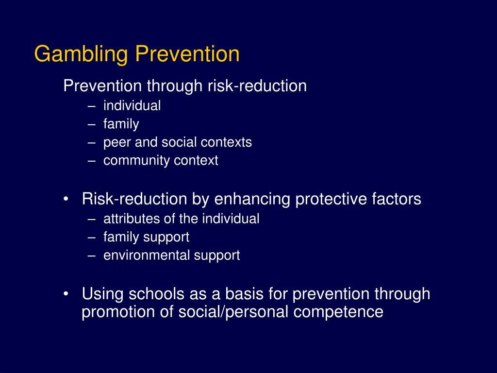 Gambling Prevention