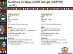 summary of new lsm groups amps jun1110
