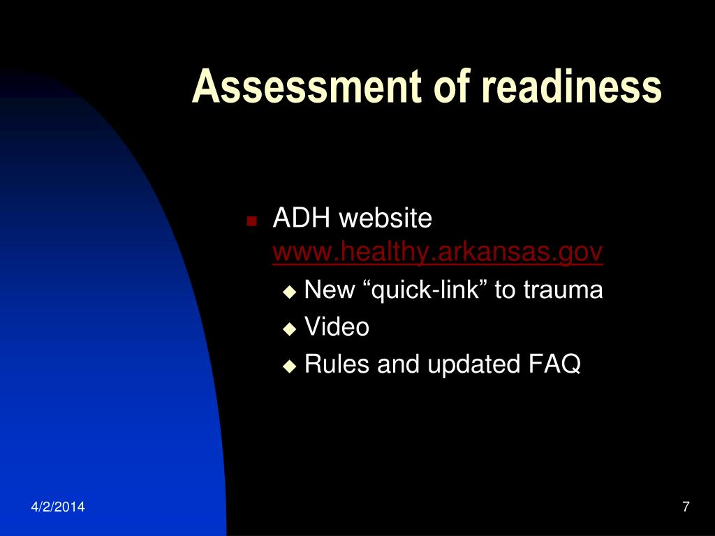 Assessment of readiness