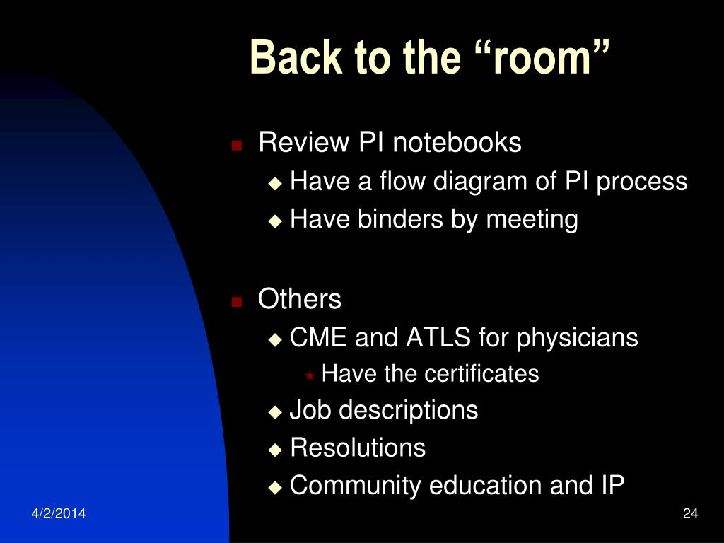 """Back to the """"room"""""""