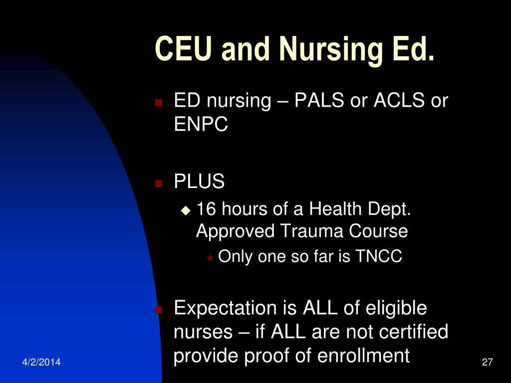 CEU and Nursing Ed.