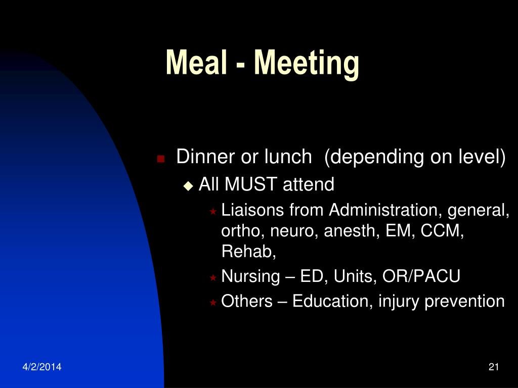 Meal - Meeting