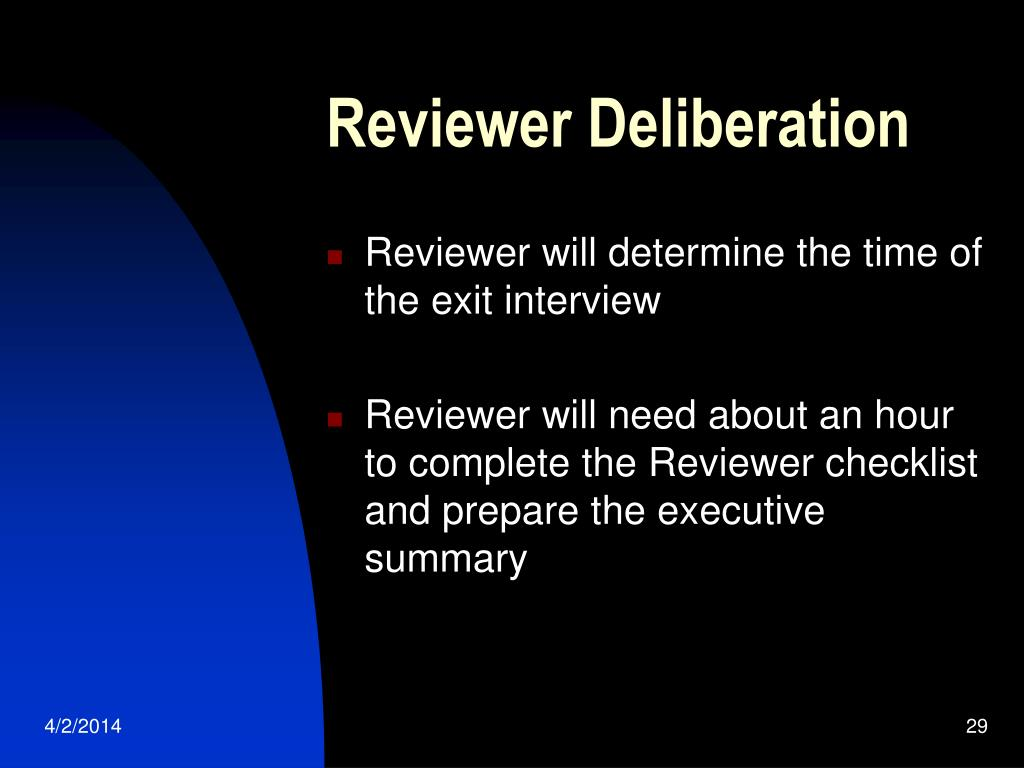 Reviewer Deliberation