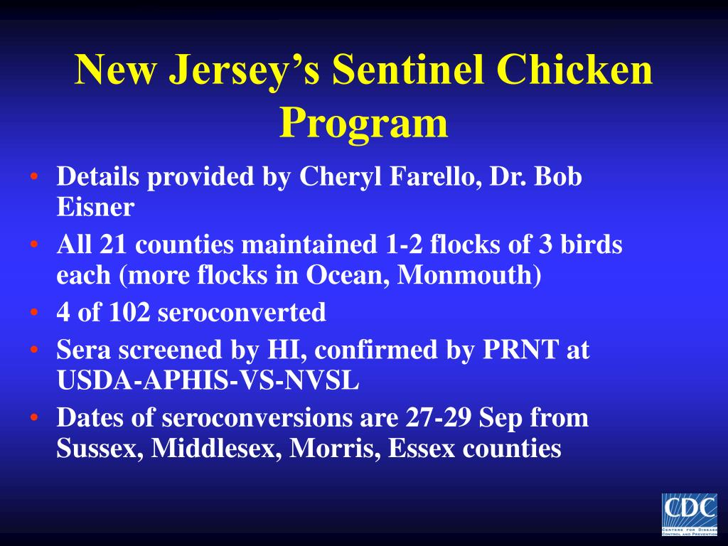 New Jersey's Sentinel Chicken Program