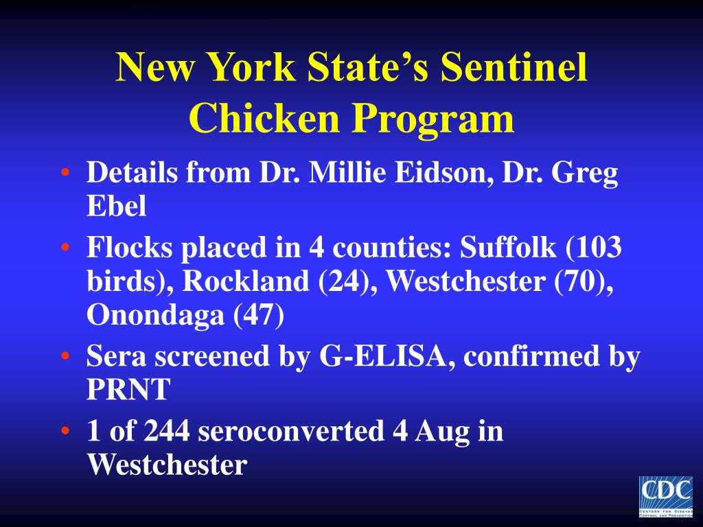 New York State's Sentinel Chicken Program