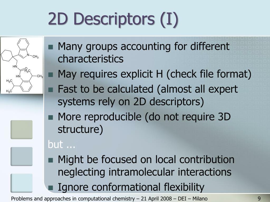 2D Descriptors (I)